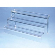 3-Steps Acrylic Riser - Crisp acrylic Measures 46cm wide by 23cm deep and 23cm high.