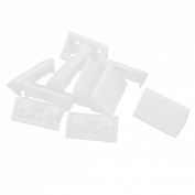 Furniture Assembly 4mm Hole Plastic Corner Shelf Brace Angle Brackets 10pcs