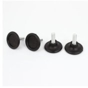 4 Pcs 8mm Adjustable Threaded Cabinet Table Bed Sofa Glide Legs 35mm High
