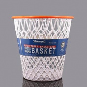 "Basketball Net ""Crunch Time"" NBA Design Wastebasket White One Size"