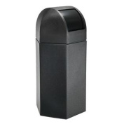 189.3l Hex Waste Container with Dome Lid in Black - 73760199