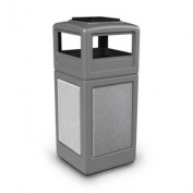 Commercial Zone Products 72051199 159l StoneTec Panel with Ashtray Dome Lid Grey with Ashtone Panels