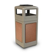 Commercial Zone Products 72051699 159l StoneTec Panel with Ashtray Dome Lid Beige with Sedona Panels
