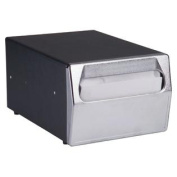 Vollrath 6512-06 Black and Chrome Counter Top Napkin Dispenser