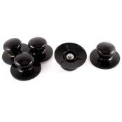 Household Cookware Black Plastic Pot Cover Knob Pan Lid Handle Handgrip 5pcs