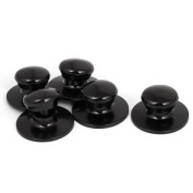 Black Plastic Kitchen Cookware Pot Saucepan Kettle Lid Knobs Cover Handles 5pcs
