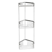 Wire Corner Shelf in Chrome - Height
