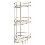 InterDesign Axis 3 Tier Shower Shelf, Satin