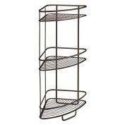 InterDesign Axis 3 Tier Shower Shelf, Bronze