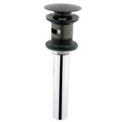 Elements of Design EDV6005 Push Pop-up with Overflow Hole, Oil Rubbed Bronze Finish