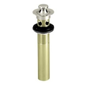 Westbrass D410-05 Lift & Turn Lavatory Drain with Overflow Holes - Not Exposed - Polished Nickel