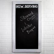 Now Serving - White Wash Wood Framed Chalkboard - 80cm