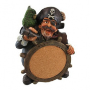 Wacky Pirate Captain Tabletop Pinboard Cork Board