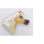 Painted ~ Arabian Stallion Head ~ Tan ~ Refrigerator Magnet ~ MP140BM