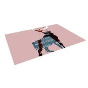"""Kess InHouse Suzanne Carter """"Oh Deer"""" Indoor/Outdoor Floor Mat, 1.2m by 1.5m"""