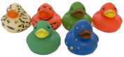 """Set of Six 5.1cm Rubber Duckies """"Assorted"""""""