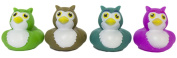 """Set of Four 5.1cm Rubber Duckies """"Owls"""""""
