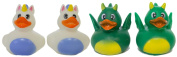 """Set of Four 5.1cm Rubber Duckies """"Fantasy"""""""