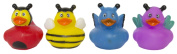 """Set of Four 5.1cm Rubber Duckies """"Buggy"""""""