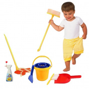 Toy Cubby Pretend and Play Cleaning Set for Kids - 1 Set