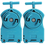 2x Beyblade BLUE POWER STRING LAUNCHERS / BeyLaunchers Rippers Right Spin BB-110