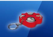 Key Chain Coin Holder, Coin Organiser, Us Coin Holder Red