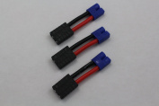 3drcparts 3-pack female traxxas style to male ec3 battery adapter
