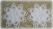Lace Doilies Set of 2 Decadent White European Lace 30cm