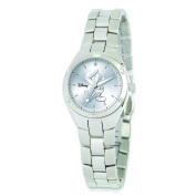 Disney Women's Stainless Steel Round Silver Dial Mickey Mouse Watch