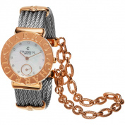 Charriol Women's ST30CP1.560.023 'St Tropez' Mother of Pearl Diamond Dial Stainless Steel Two Tone Swiss Quartz Watch