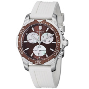 Swiss Army Women's Alliance Sport Chrono Brown Dial White Rubber Watch