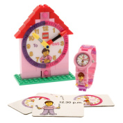 LEGO Girl Time Teacher Kid's Minifigure Interchangeable Links Watch and Clock