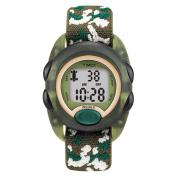 Timex T719129J Kids' Digital Camo Elastic Fabric Strap Watch