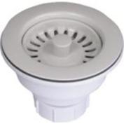 Waste King 4011 Decorative Sink Basket Strainer and Stopper, Almond