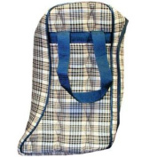 HS1101 Lined English Boot Bag Horsemans Plaid