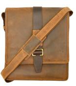 Visconti 16159 Zoltan Medium Messenger Bag in Oiled Leather