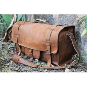 HLC Genuine Leather Handmade Vintage Duffel Luggage Travel Bag Duffel Gym Bag Yogo Bag Travelling Bag