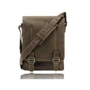 Visconti 16094 Nick Distressed Leather Flapover Messenger Bag