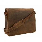 Visconti Leather Distresserd Messenger Bag 18548-HARVARD