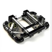 eBus New Super Portable Stainless Steel Shopping Cart Folding Shopping Trolley Vehicle Partner Travaler Partner (Black,