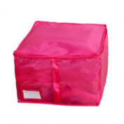 Folding Zipped Clothes Bedding Quilt Duvet Storage Bag Holder Container Fuchsia