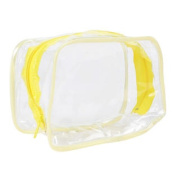 Cosmetic Makeup Toiletry Clear PVC Travel Bath Wash Bag Holder Pouch Kit Yellowq