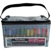 Bee Creative BC201 Tote Along Bead Vial Storage Bag, Holds 72 Vials, 25cm x 15cm x 15cm