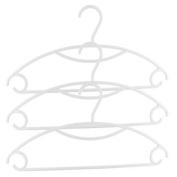 Household Plastic Clothes Coats Socks Hook Hangers Drying Rack White 3pcs