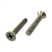10/24 X 5.1cm - 1.3cm Stainless Steel Flat Head Phillips Machine Screws