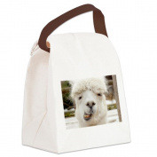 CafePress Canvas Lunch Bag - Funny Alpaca Smile Canvas Lunch Bag - Khaki