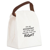 CafePress Canvas Lunch Bag - Im an accountant Assume Im Right Canvas Lunch Bag - Khaki
