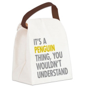 CafePress Canvas Lunch Bag - Its A Penguin Thing Canvas Lunch Bag - Khaki