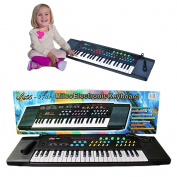 Toy Cubby Musical Keyboard with Mic and Programmed Songs.
