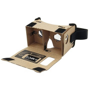 Sminiker Google Cardboard 3d Vr Virtual Reality DIY 3D Glasses for Smartphone with NFC and Headband,Lenses HD Visual Experience